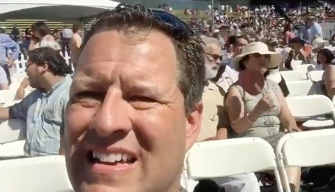The Hilarious Moment a Dad Recorded Himself Instead of His Daughter's Graduation