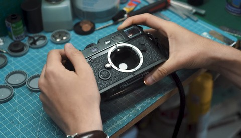 The 22 Year Old Repairing Old Film Cameras