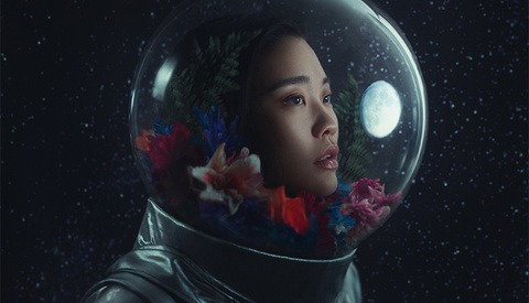 Photographer Creates Her Own Spacesuit for Fantasy Portrait
