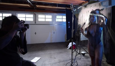 Behind the Scenes on a Budget Shower Shoot