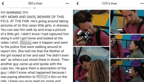 Photographer Finds Himself the Subject of a Social Media Witch Hunt After Taking Photos at a Fair, Accused of Pedophilia