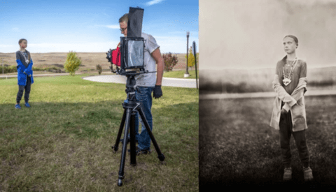 Taking Wet Plate Portraits of Climate Change Activist Greta Thunberg