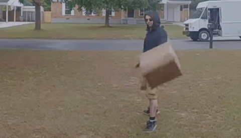 Delivery Driver Caught on Doorbell Camera Hurling Parcel Containing $1,500 Lens