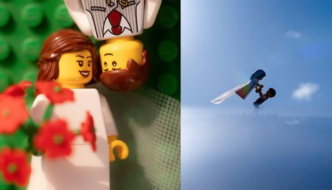 Quarantined Photographer Captures Entire Wedding Day of Lego Characters at Home for Hilarious Photo Series