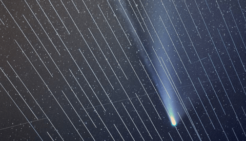 Photographer's Comet NEOWISE Photos Sabotaged by SpaceX Satellites