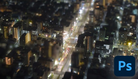 Edit an Aerial View Toy Town Tilt-Shift Effect in Photoshop CC