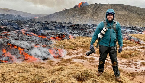 Photographing Volcanic Eruption up-Close and Personal