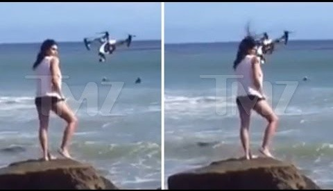 Model Gets Hit In Face With Drone