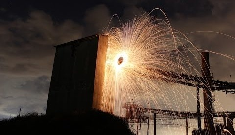 This Video of a Steel Wool Photoshoot at Abandoned Warehouse is Hot