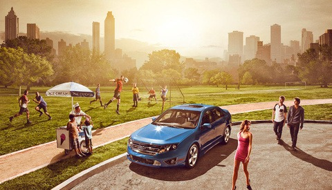 Dave Hill Shoots The Ford Fusion Ad Campaign