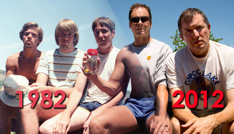 Group of Friends Photograph Themselves For 30 Years