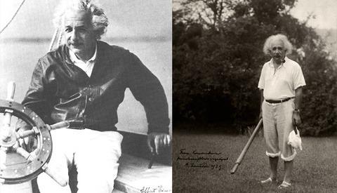 Rarely Seen Photos Of Albert Einstein In Casual Environments