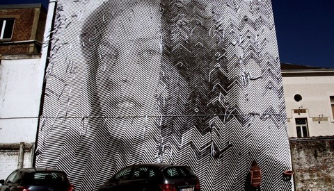 Enormous Portrait Murals by Street Artists Sten and Lex
