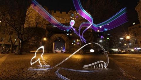Surrealistic Light Painting Video Animation