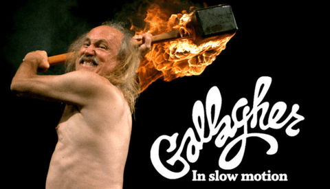 Gallagher In Slow Motion ... This Video Was Destined To Be Made