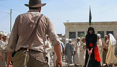 Rare Behind The Scenes Clip Of Iconic Scene From Raiders Of The Lost Ark