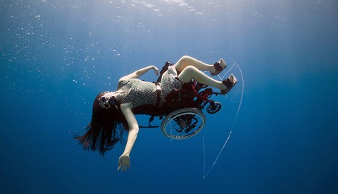 Freewheeling - Self Propelled Underwater Wheel Chair