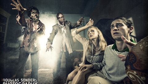 Here Come The Halloween Zombies - Photoshoot With Lighting Diagram