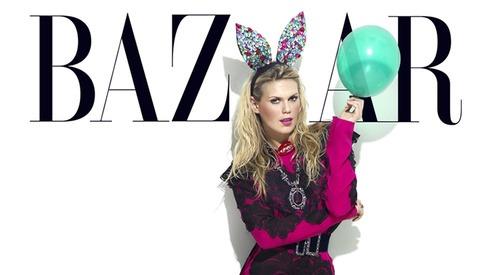 Model and DJ Alexandra Richards, Daughter of Rolling Stones Keith Richards photographed by Benjamin Kanarek for Harper's BAZAAR