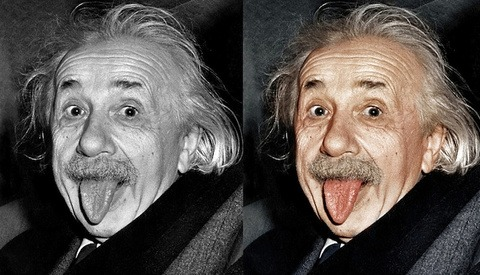 Colorization Of Black And White Photos Of Historical Icons