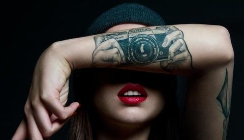Pentax 35mm Camera Tattoo