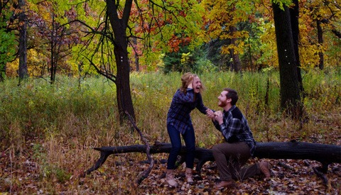 Man Captures His Own Proposal With Tripod and Timer
