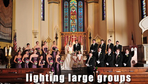 How To Light Wedding Posed Pictures In A Church