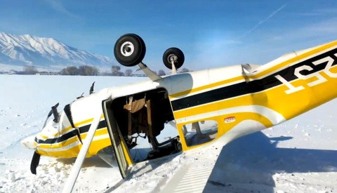 Man Records a First Person POV of Plane Crash