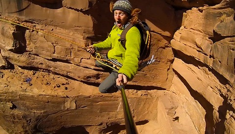 400 Foot Canyon Jump Shot With DSLR, GoPros, And An Octocopter