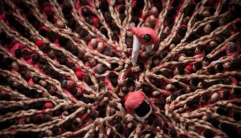 Stunning Photographs Of A Human Tower Competition