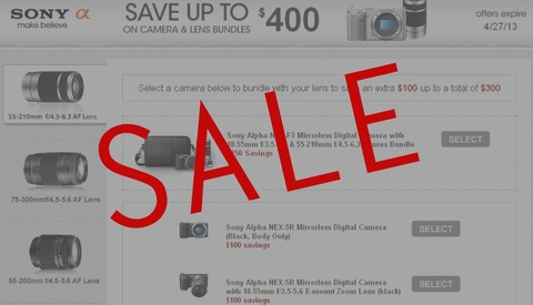 Save Up To $400 on Sony Camera and Lens Bundles! Plus Other Great Deals!