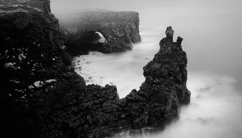 Iceland Swings Moods In Black White