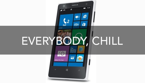 About the Nokia Lumia 1020: Everybody Chill Out