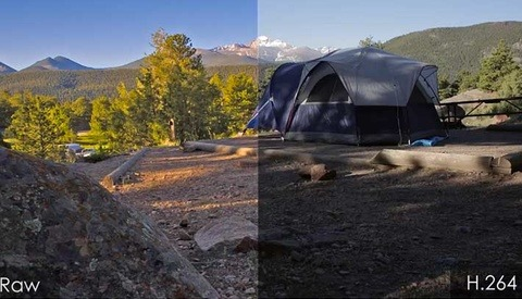 A Great Demonstration Of The Difference Between Raw And H.264 Video