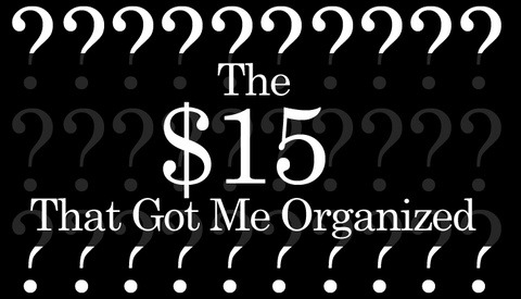 The $15 That Got Me Organized...And Saved My Sanity