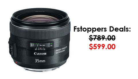 $200 Off Canon 35mm f/2.0 IS Lens