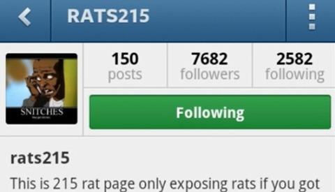 Instagram Account Getting Philadelphia Witnesses Murdered