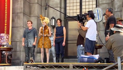 Behind the Scenes Footage of The Hunger Games: Catching Fire