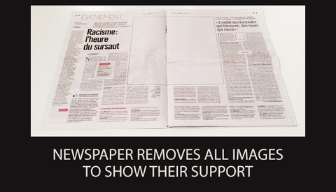 Newspaper Removes All Images to Show Support for Photographers