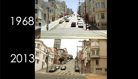 """The Classic """"Bullitt"""" Chase Sequence - Then And Now"""