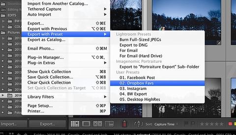 Using Lightroom Export Presets to Speed Up Your Workflow