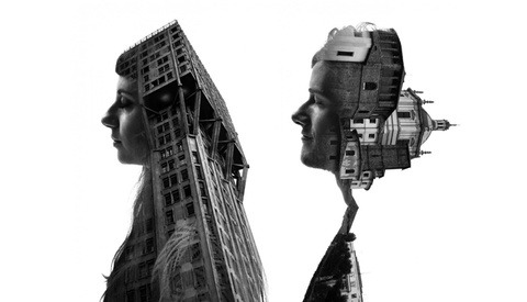 Seamless Double Exposures of Milan's Architecture and People
