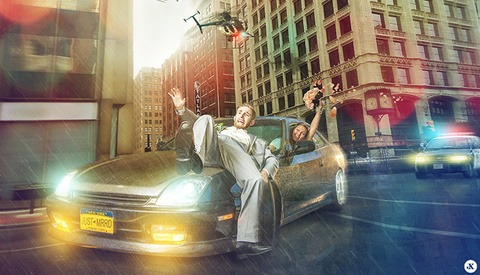Using Photoshop To Turn A Wedding Reception In To A Police Chase