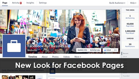 New Look for Facebook Pages