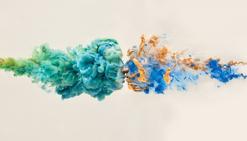 'Destruction/Creation': Intricate Sculptures Formed from Colorful Swirls of Paint