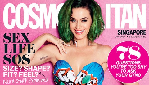 Cosmopolitan Magazine Uses Katy Perry Cover On All 62 Editions