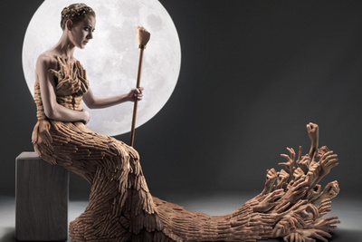 Photography Compositing Insanity, A Dress Made Of Hands