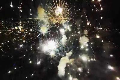 In the Spirit of July 4th, Watch a DJI Phantom Fly Through Fireworks