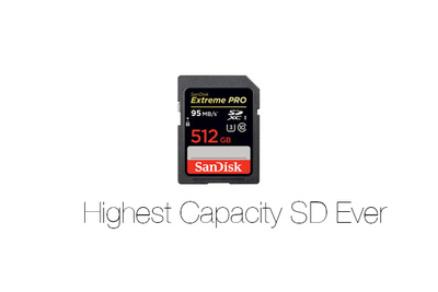 SanDisk Debuts the 512GB SD Card, the Biggest Ever Available, and Upgraded CF Cards