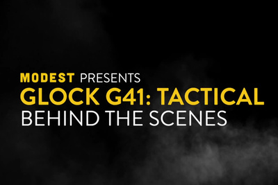 This BTS Video for Glock G41 Tactical Details an Incredible Continuous Shot from Crane to Handheld Movi